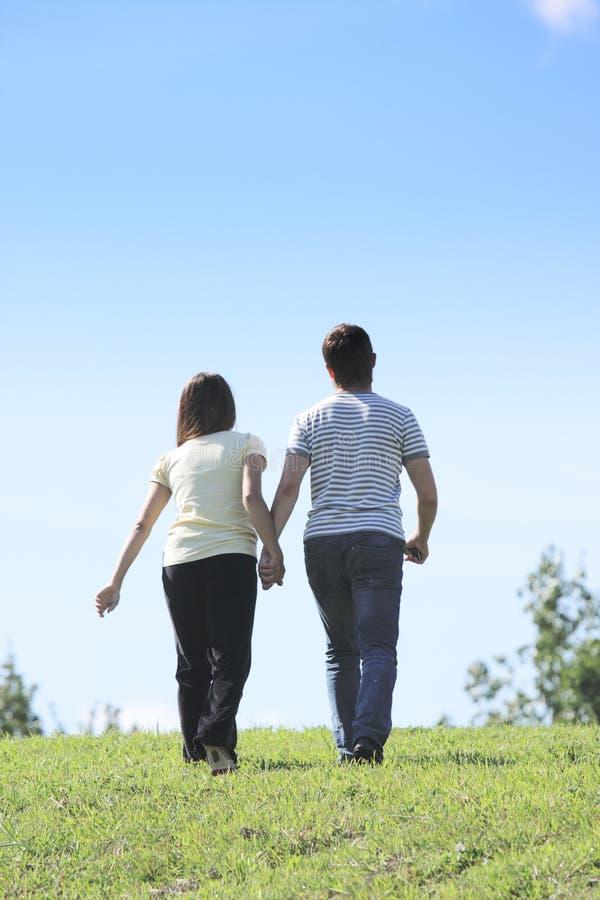 Paare, die weggehen stockbild
