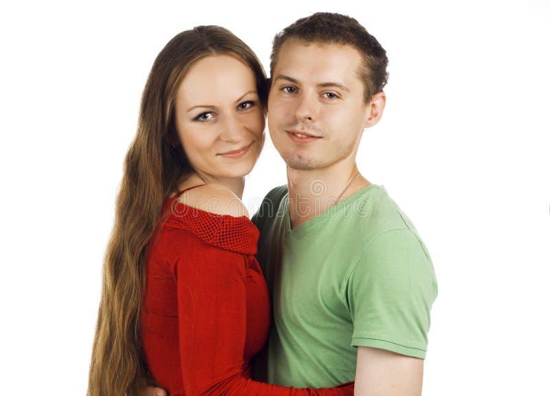 Paare getrennt auf Weiß lizenzfreies stockbild