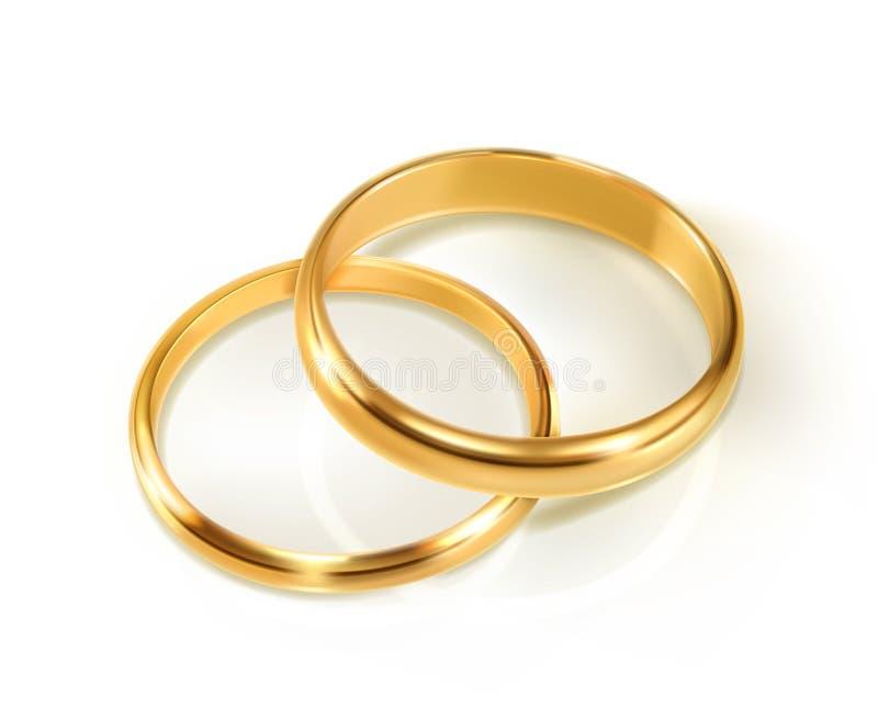 Paare Hochzeits-Ringe vektor abbildung