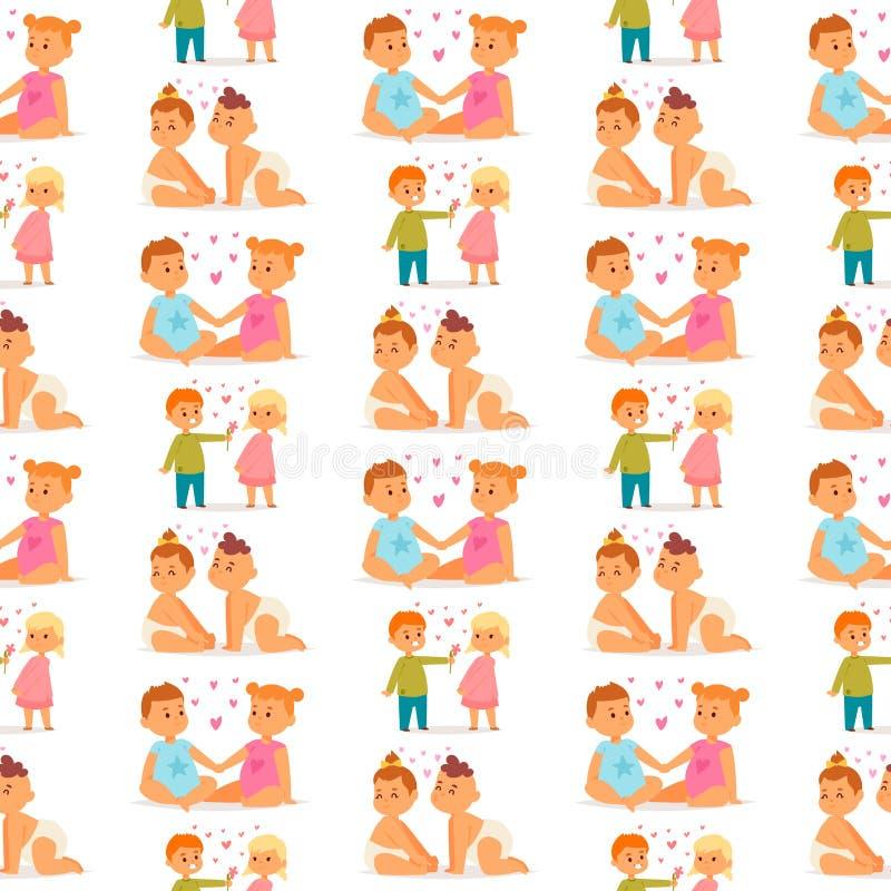Paare im gl?cklichen l?chelnden romantischen Erwachsenen Amorousness Frau der Leute der Liebesvektorcharakterzusammengeh?rigkeit  stock abbildung