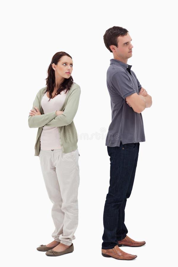 Paare im Widerspruch stockbilder