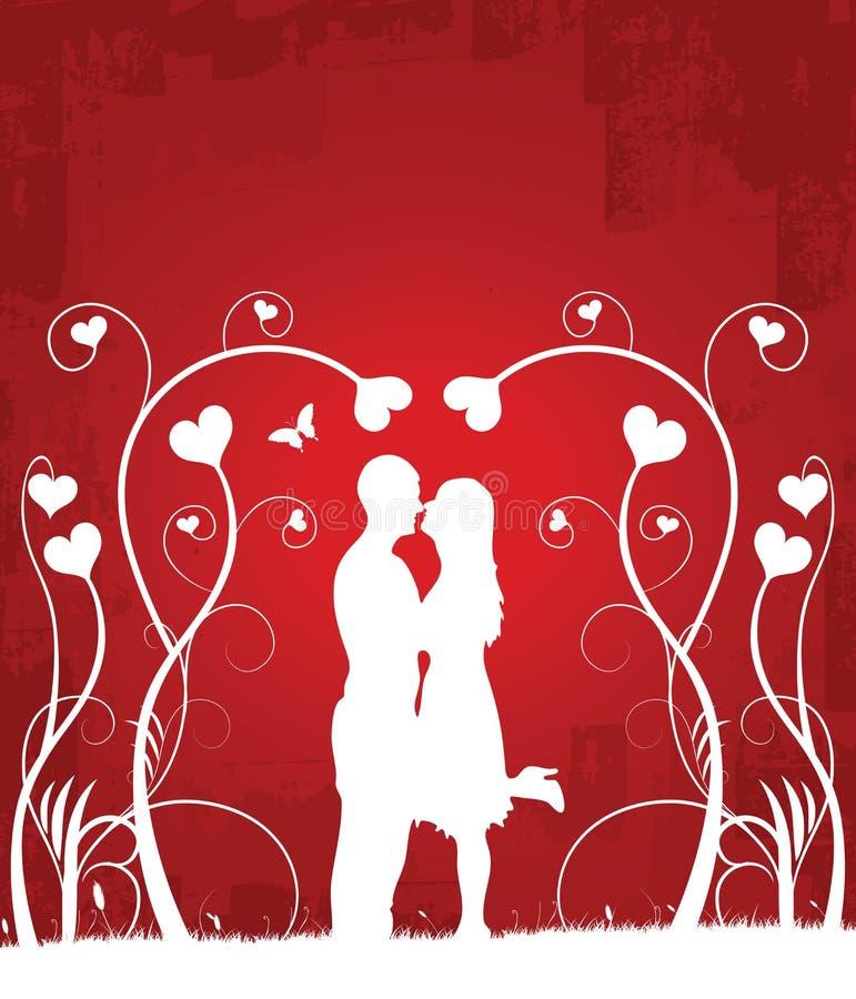 Paare küssendes 1 vektor abbildung