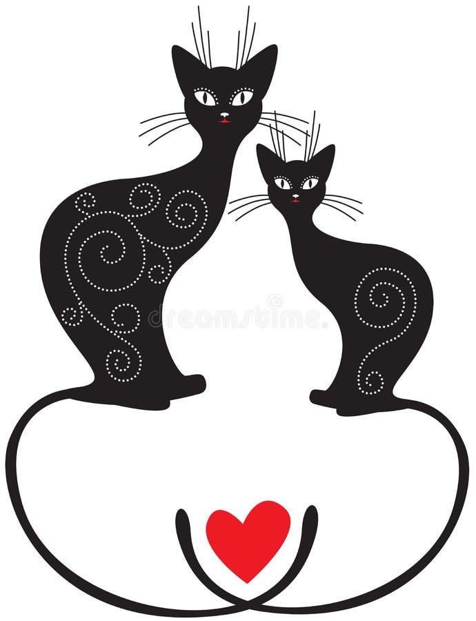 Paare Katzen vektor abbildung