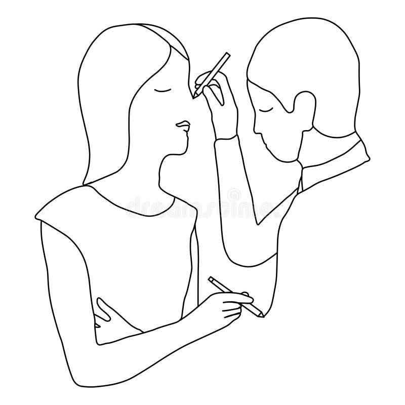 Paare Leutezeichnen vektor abbildung