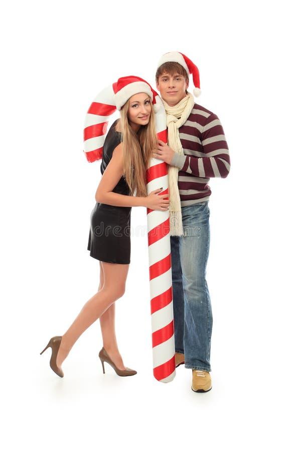 Paare mit Süßigkeit stockbilder