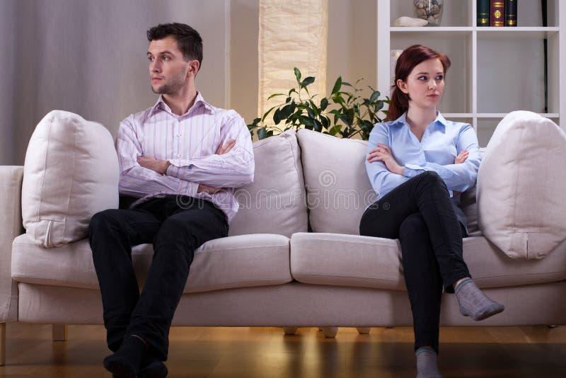 Paare nach Streit lizenzfreies stockbild