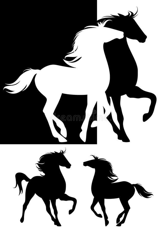 Paare Pferde vektor abbildung