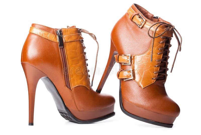 Paare Schuhe der Frau stockfoto