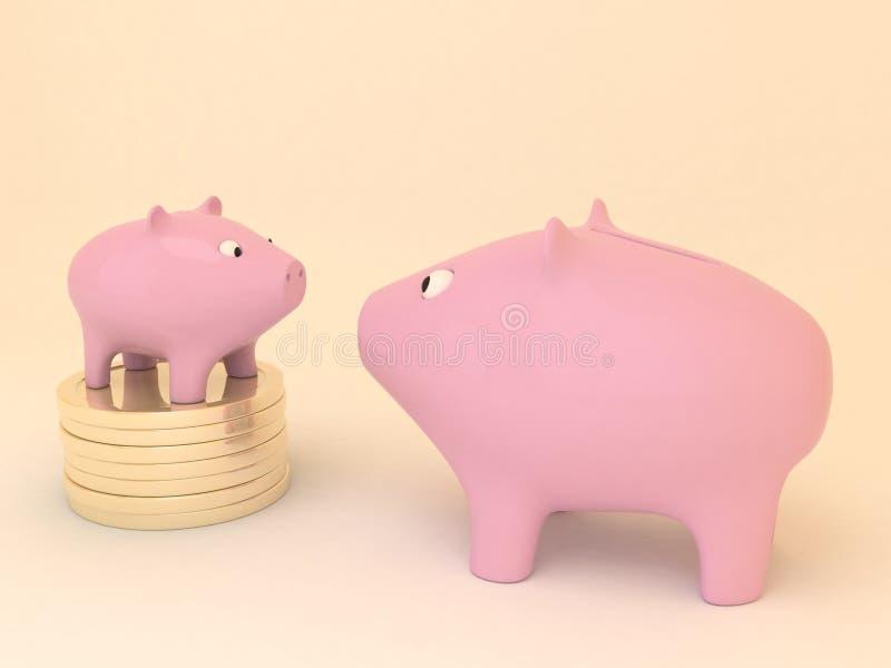Paare Sparschweine stockbild