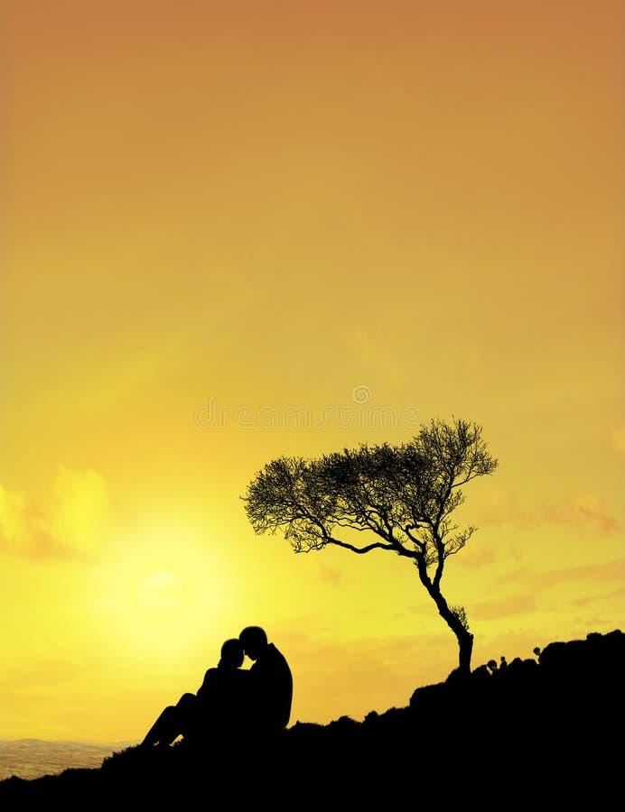 Paare (Sun-Himmel) lizenzfreie stockfotos
