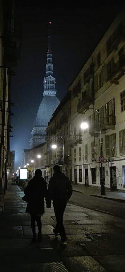 Paare in Turin stockbilder