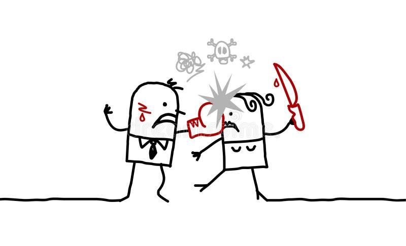 Paare u. Gewalttätigkeit vektor abbildung