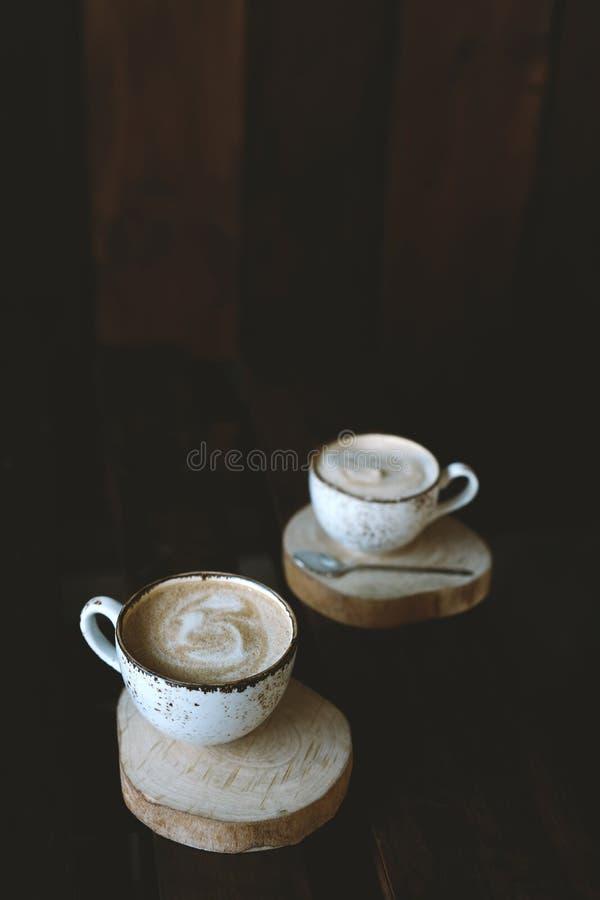 Paare von Tasse Kaffees stockfoto