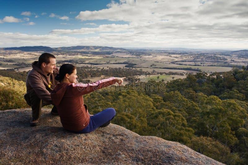 Paare von Touristen stockfoto