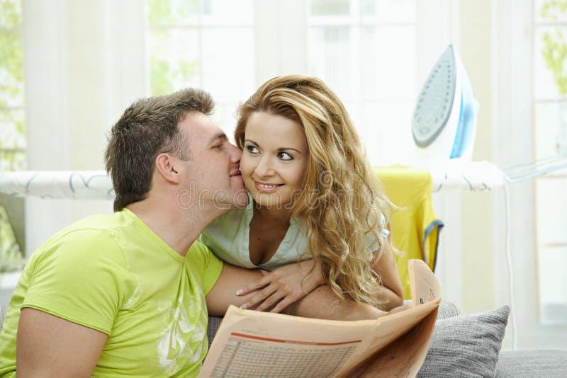 Paare zu Hause stockfoto