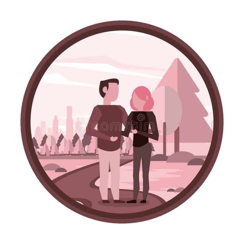 Paarman en vrouw royalty-vrije illustratie