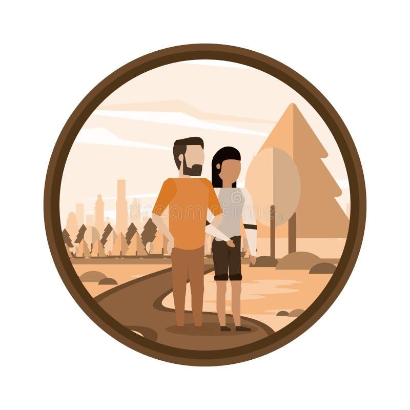 Paarman en vrouw vector illustratie