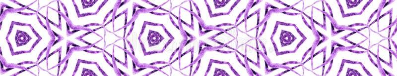 Paars zomer naadloze randrol Geometrische wa stock illustratie