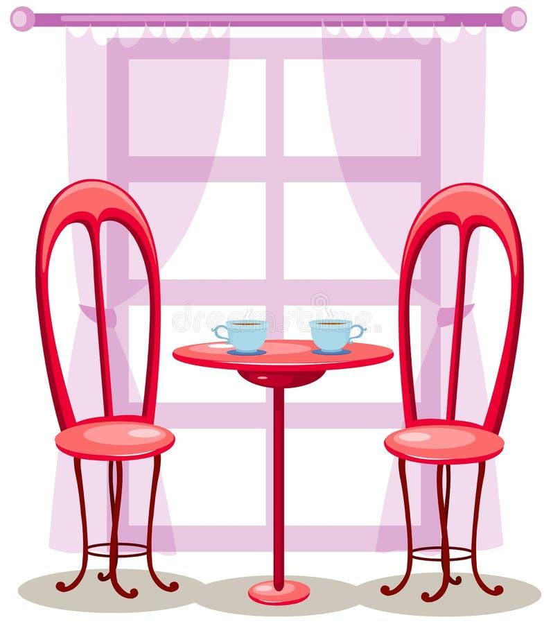 Paarstühle mit Kaffee stock abbildung