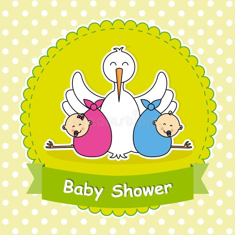 Paart Babyparty stock abbildung