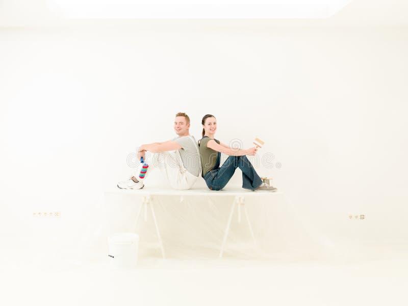 Paarteam DIY stockfoto