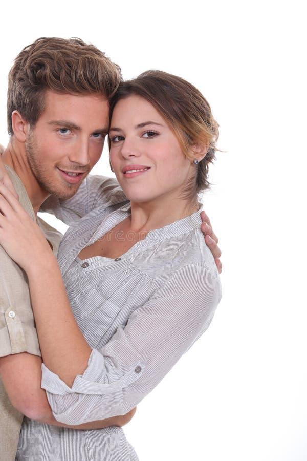 Paarumarmen lizenzfreies stockbild