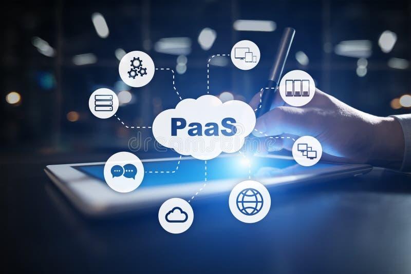 PaaS,平台作为服务 互联网和网络连接概念 库存照片