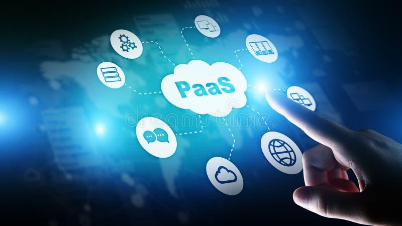 PaaS -平台作为服务、互联网技术和发展概念 免版税库存图片
