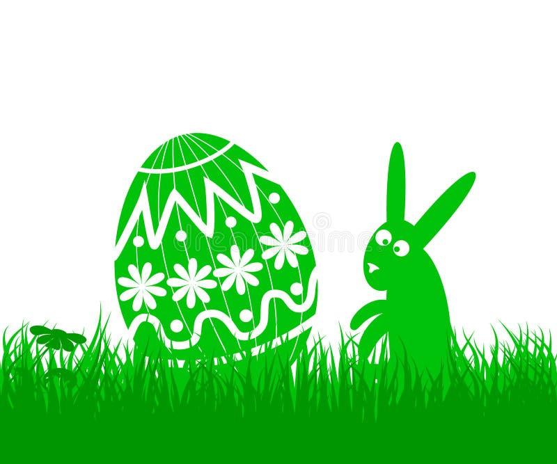 Paasei en konijn vector illustratie