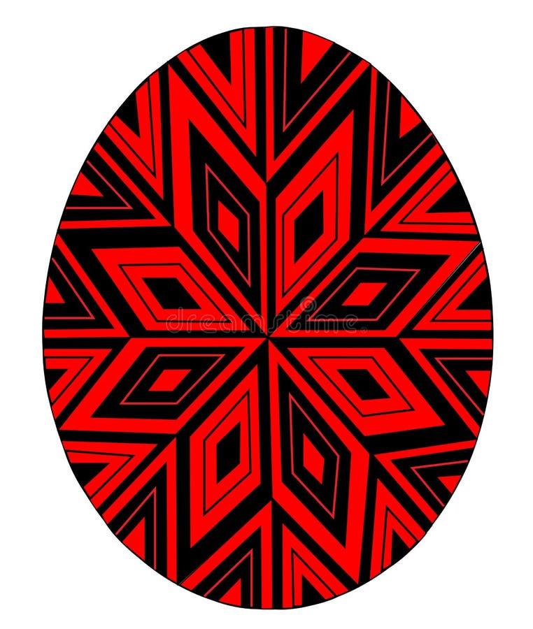Paasei met een geschilderd patroon, ster Het symbool van Pasen Een oude traditie van mensen Vector illustratie vector illustratie