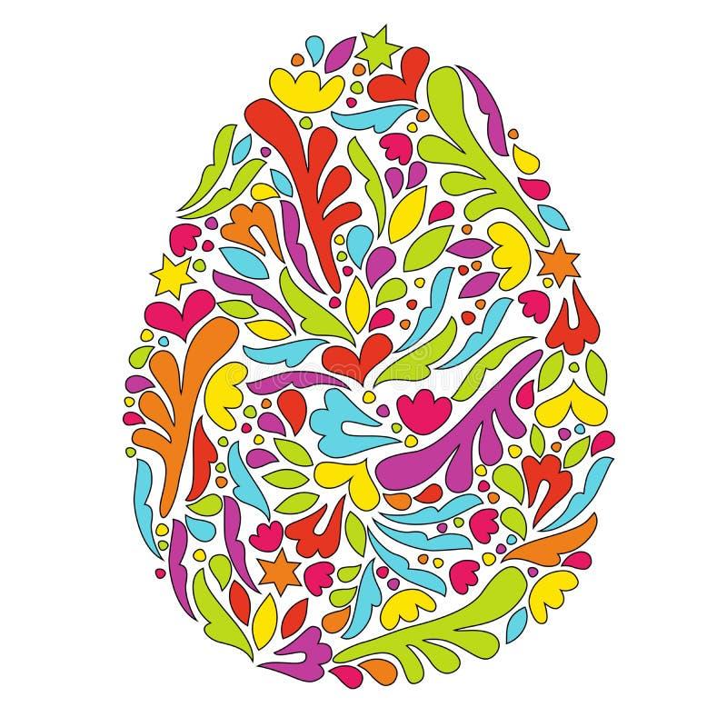 Paasei met een patroon Eisymbool stock illustratie