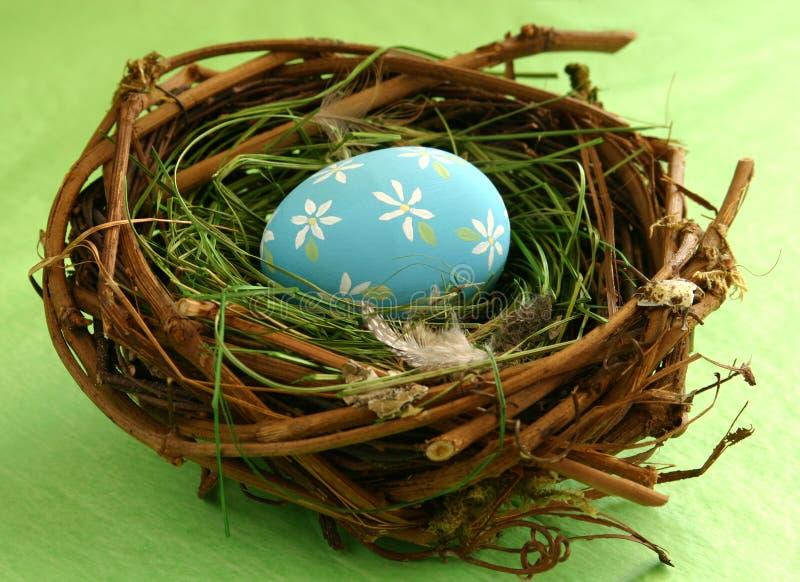 Paasei in Nest stock foto's