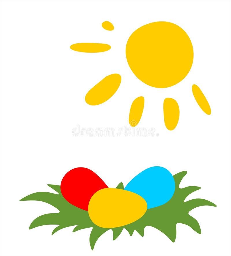 Paaseieren en zon