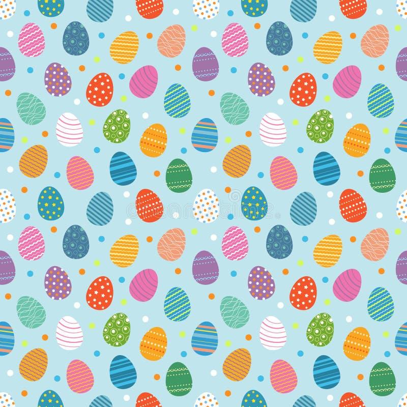 Paaseieren naadloos patroon vector illustratie
