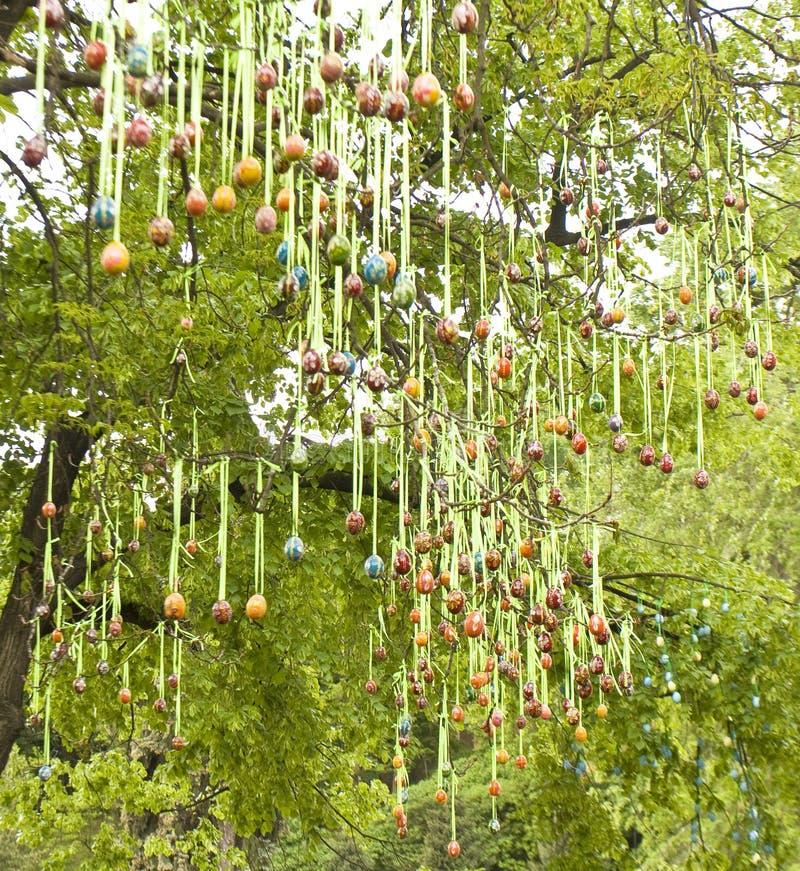 Download Paaseieren op boom stock afbeelding. Afbeelding bestaande uit pasen - 39102271
