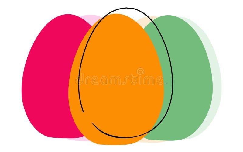 Paaseieren op witte achtergrond, vectorillustratie worden geïsoleerd die vector illustratie