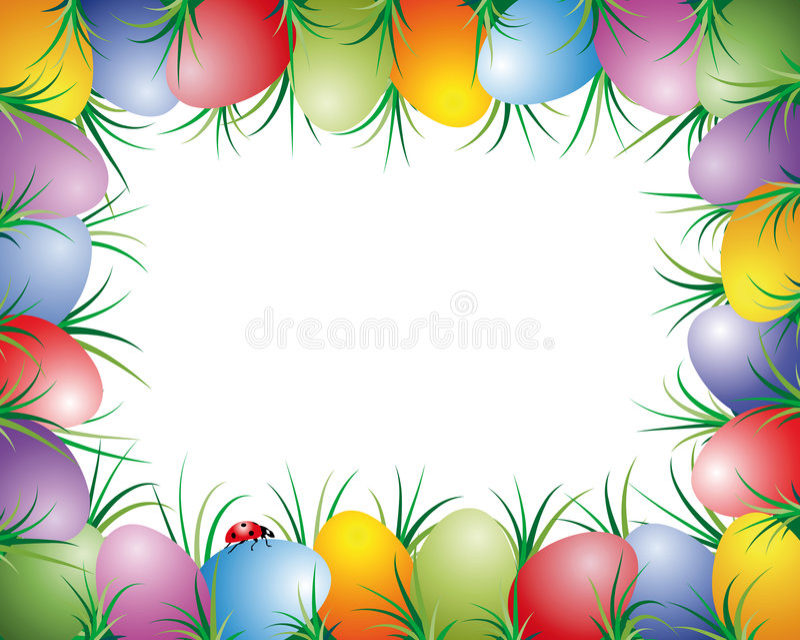 Paaseierenframe vector illustratie
