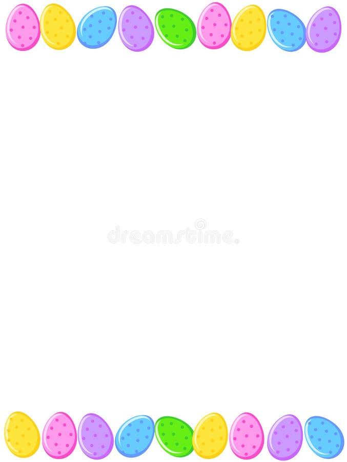 Paaseierengrens vector illustratie