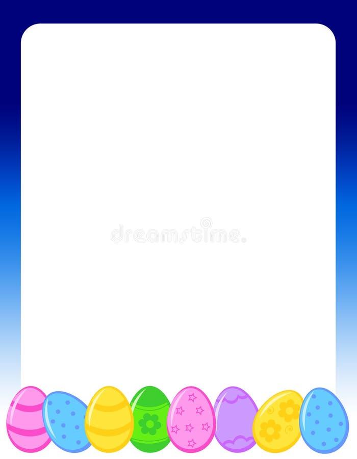Paaseierengrens/frame stock illustratie