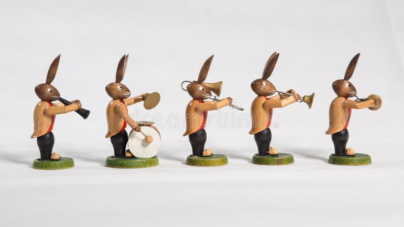 Paashazen grote band, instrumenten, witte achtergrond royalty-vrije stock afbeelding