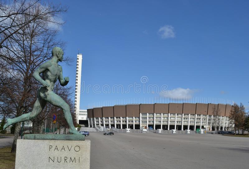 Paavo Nurmi Olimpijski stadium Helsinki obraz stock