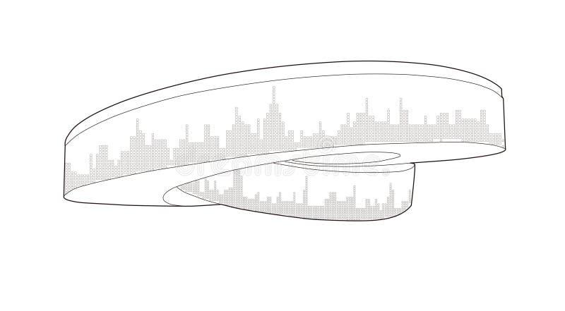 Pabellón 2010 de Expo-Dinamarca del mundo de Shangai ilustración del vector