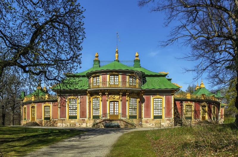 Pabellón chino en Drottningholm, Estocolmo fotografía de archivo libre de regalías