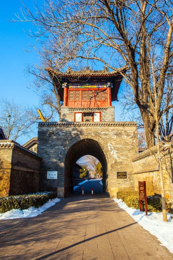 Pabellón conmemorativo de la escena-Xianweng del templo de Jinci (museo) imagen de archivo libre de regalías