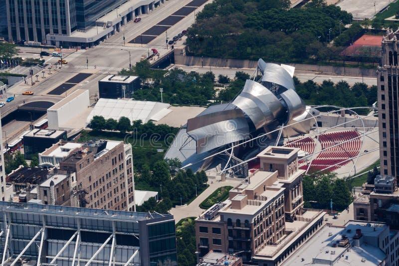 Pabellón De Jay Pritzker En El Parque Chicago Del Milenio Imagen de ...