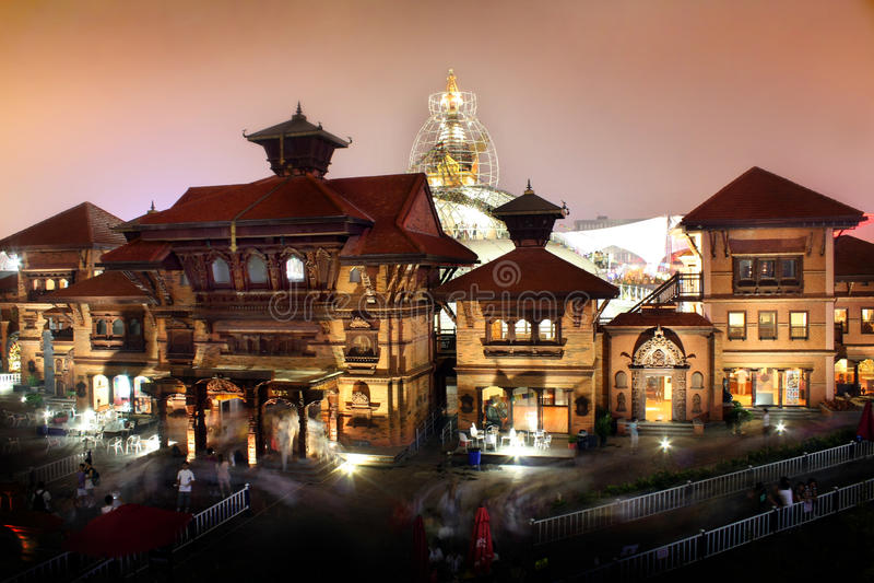Pabellón de Nepal de la expo del mundo de Shangai foto de archivo