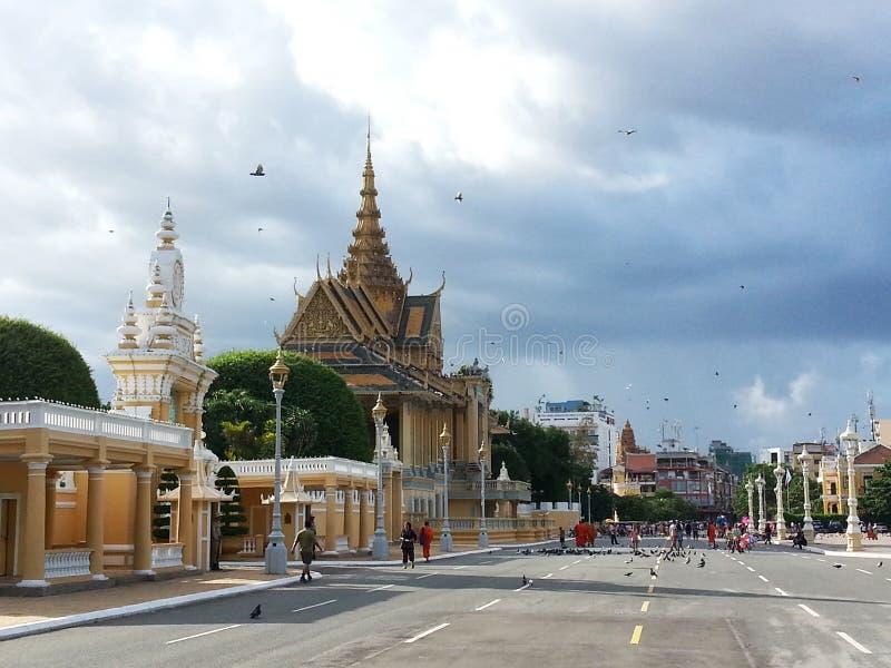Pabellón del claro de luna en Phnom Penh - Camboya fotos de archivo libres de regalías