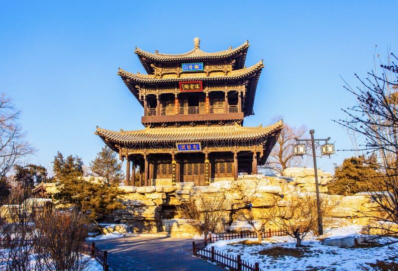 Pabellón del dragón de vuelo (Feilong) del templo conmemorativo de Jinci (museo) fotografía de archivo libre de regalías