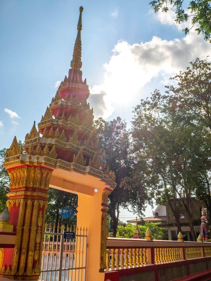 Pabellón del templo, rayong Tailandia de Sophon Temple foto de archivo