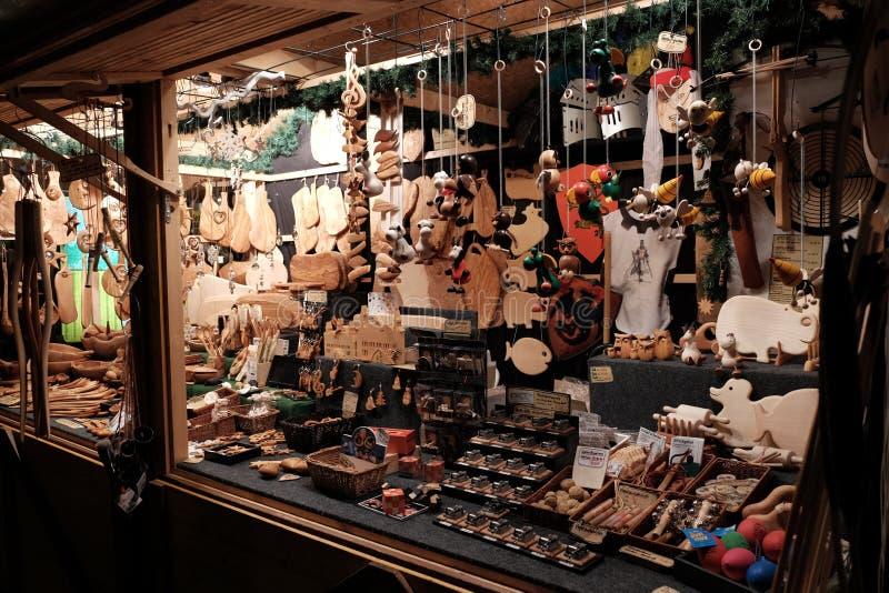 Pabellón en la feria de la Navidad en Aquisgrán imagen de archivo